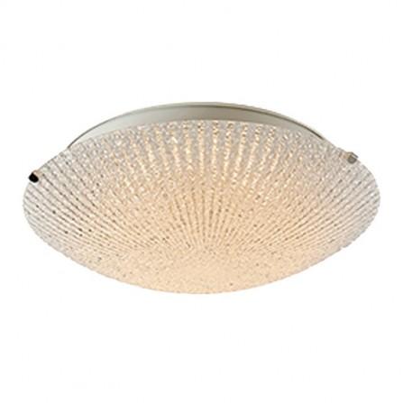 Πλαφονιέρα/φωτιστικό Οροφής 3/φωτο με ανάγλυφο γυαλί
