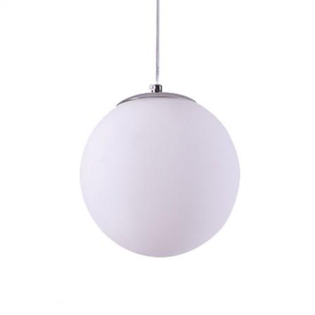 Χειροποίητο Κρεμαστό Φωτιστικό Μπάλα Φ50 από λευκή οπαλίνα
