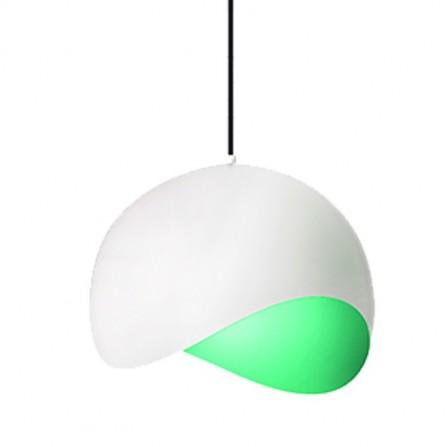 Κρεμαστό φωτιστικό μεταλλικό mat λευκό-πράσινο NEMO