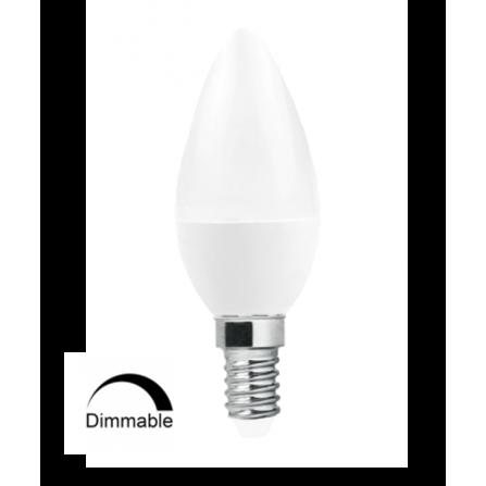 Λάμπα κεράκι LED DIMMABLE E14 6W 6500K (ΨΥΧΡΟ) C37 240o 470Lm