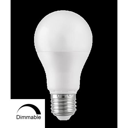 Λαμπτήρας Κοινός LED DIMMABLE E27 10W 6500Κ (ΨΥΧΡΟ) Α60 850Lm