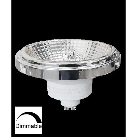 Λαμπτήρας LED AR111 GU10 12W 3000K (ΘΕΡΜΟ) 24o 950Lm