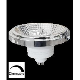 Λαμπτήρας LED AR111 GU10 12W 3000K (ΘΕΡΜΟ) 24o DIMMABLE 175-265V 950Lm