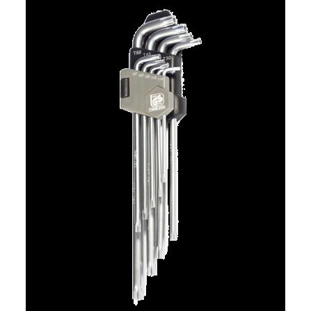 Κλειδιά Torx μακρυά με τρύπα σετ 9 τεμάχια CR.V
