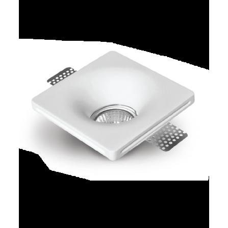Γύψινο σποτ οροφής χωνευτό τετράγωνο 120x120mm με ντουϊ GU10