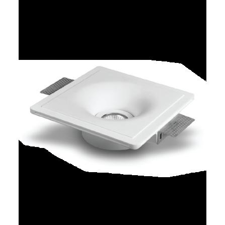 Γύψινο σποτ οροφής χωνευτό τετράγωνο 204x204mm με ντουϊ GU10