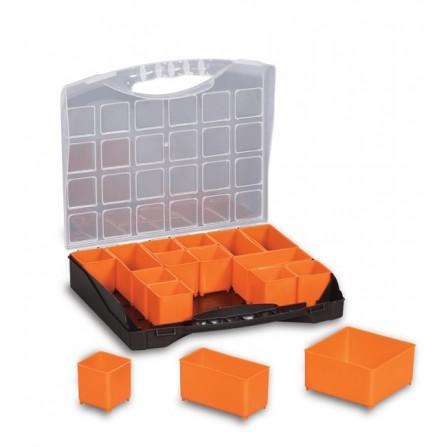 Εργαλειοθήκη ταμπακιέρα πλαστική με διάφανο καπάκι 31/16 255x300x54mm