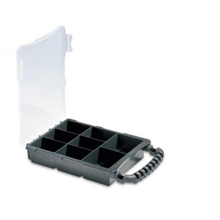 Εργαλειοθήκη ταμπακιέρα πλαστική με διάφανο καπάκι 3/8 180x303x50mm