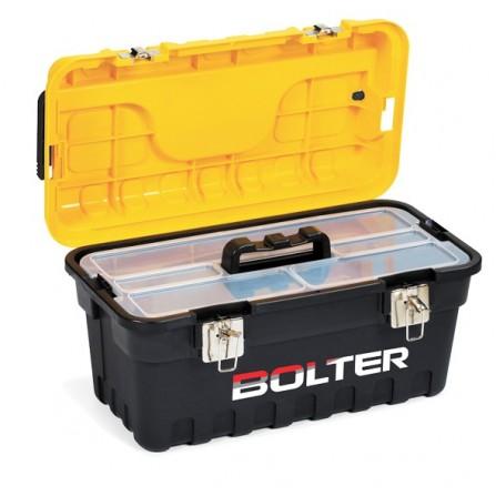 Εργαλειοθήκη πλαστική 18'' STRONGO με μεταλλικά clips 276x535x267mm