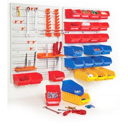 Επίτοιχο σετ με κουτιά αποθήκευσης πλαστικό με 43 τεμάχια