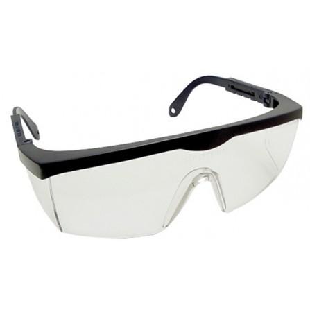 Γυαλιά προστασίας εργαζομένων διάφανα με μαύρο