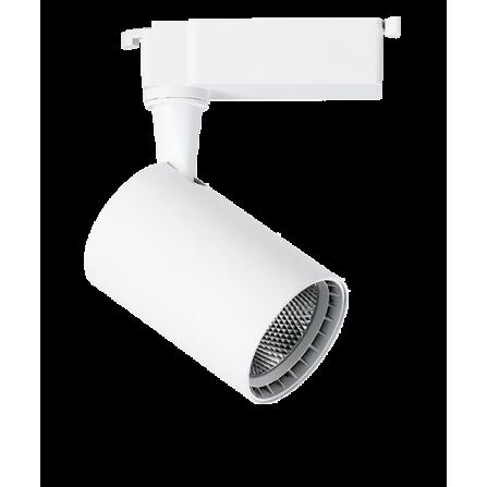 Σποτ Ράγας LED 5W 4000K (ΦΩΣ ΗΜΕΡΑΣ) 24ο 420Lm 2 καλωδίων μονοφασικό λευκό