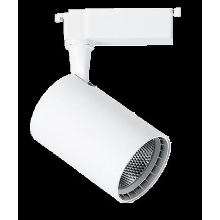 Σποτ Ράγας LED 15W 4000K (ΦΩΣ ΗΜΕΡΑΣ) 24ο 1250Lm 2 καλωδίων μονοφασικό λευκό