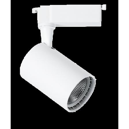 Σποτ Ράγας LED 10W 3000K (ΘΕΡΜΟ) 24ο 820Lm 2 καλωδίων μονοφασικό λευκό