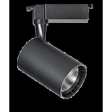 Σποτ Ράγας LED 10W 3000K (ΘΕΡΜΟ) 24ο 820Lm 2 καλωδίων μονοφασικό μαύρο