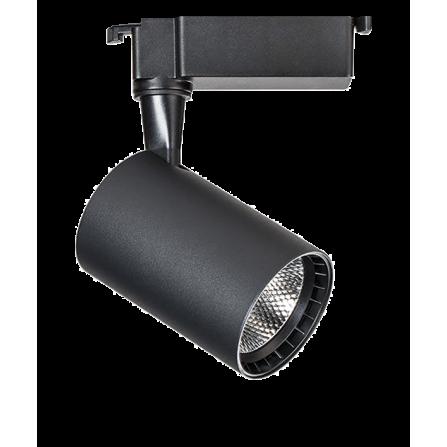 Σποτ Ράγας LED 5W 4000K (ΦΩΣ ΗΜΕΡΑΣ) 24ο 420Lm 2 καλωδίων μονοφασικό μαύρο