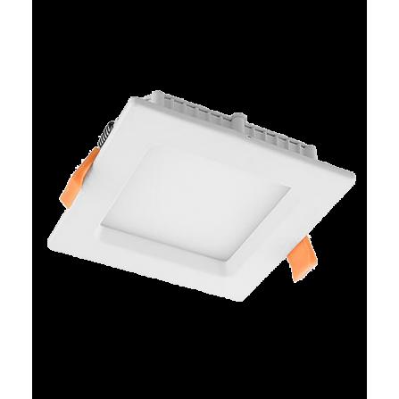 Χωνευτό Φωτιστικό LED τετράγωνο 6W 4000K (ΦΩΣ ΗΜΕΡΑΣ) 420Lm 160x160x11mm