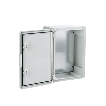 Πλαστικό κιβώτιο ABS 35x25x15 στεγανό 18 θέσεων 2 σειρών με πλάκα στήριξης και πόρτα