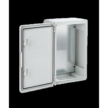 Πλαστικό κιβώτιο ABS 50x40x18 στεγανό με πλάκα στήριξης και πόρτα