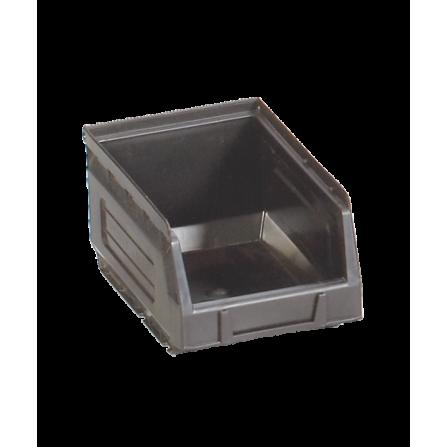 Πλαστικό σκαφάκι αποθήκευσης γενικής χρήσης Νο:2 σε μαύρο χρώμα 165x100x82mm