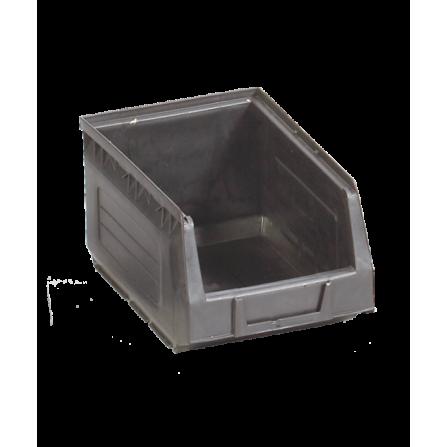Πλαστικό σκαφάκι αποθήκευσης γενικής χρήσης Νο:3 σε μαύρο χρώμα 153x230x125mm