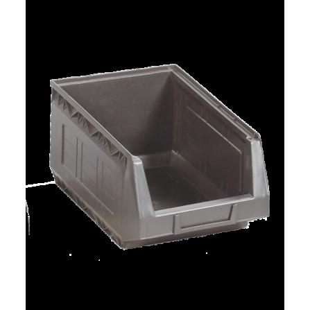Πλαστικό σκαφάκι αποθήκευσης γενικής χρήσης Νο:4 σε μαύρο χρώμα 335x210x165mm