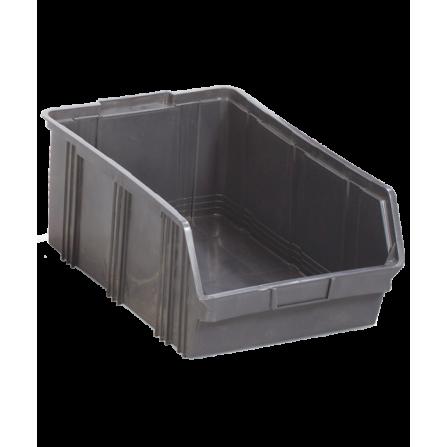 Πλαστικό σκαφάκι αποθήκευσης γενικής χρήσης Νο:5 σε μαύρο χρώμα 320x500x200mm