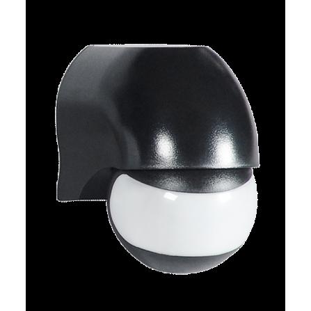 Επίτοιχος αισθητήρας κίνησης & φωτός σε μαύρο χρώμα