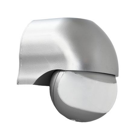 Επίτοιχος αισθητήρας κίνησης & φωτός σε ασημί χρώμα