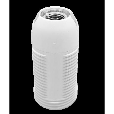 Ντουϊ βακελίτου Ε14 λευκό με σπείρωμα για ροδέλες