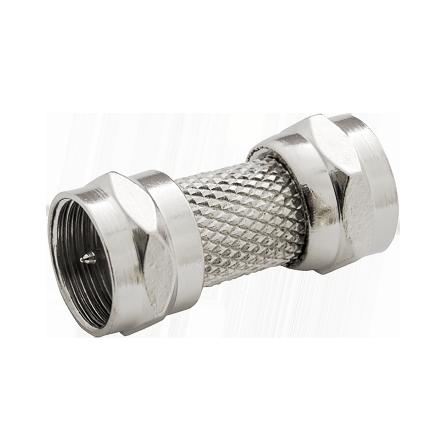 Μούφα μεταλλική δορυφορικής κεραίας αρσενικό σε αρσενικό τύπου F 7,2mm
