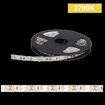Ταινία LED 14,4W/m CHIP 5050 60chips/m 2700K (ΘΕΡΜΟ) 580Lm IP20 12V