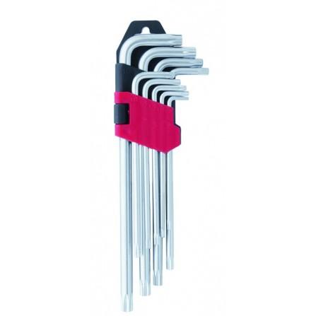 Κλειδιά Torx extra μακρυά ball point CR.V χρωμίου βαναδίου σετ 9 τεμάχια