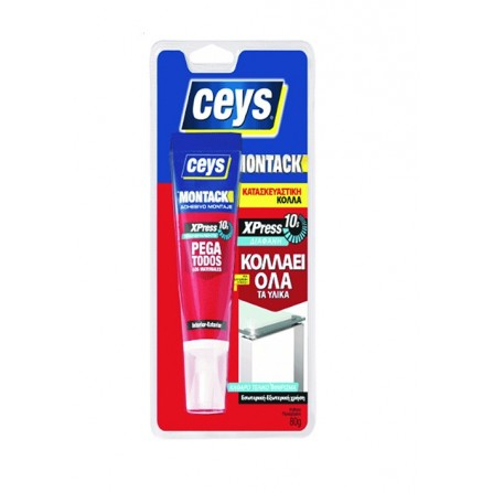 MONTACK XPRESS διάφανη κόλλα όχι βίδες & καρφιά 80ml