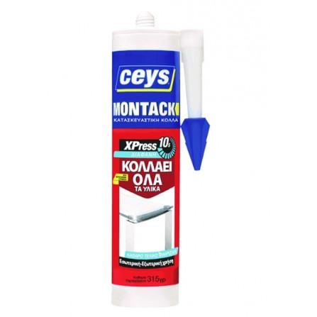 MONTACK XPRESS διάφανη κόλλα όχι βίδες & καρφιά 315ml