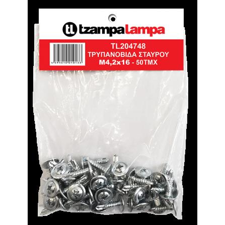 Τρυπανόβιδες Μ4,2x16mm σετ 50τεμ