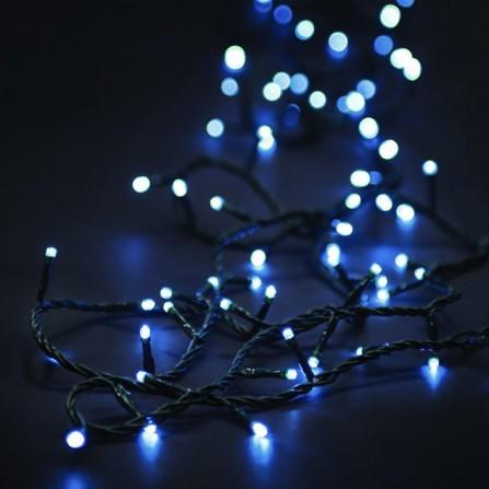 Χριστουγεννιάτικα λαμπάκια/φωτάκια 100 LED με επέκταση & πρόγραμμα πράσινο καλώδιο/λευκό φως