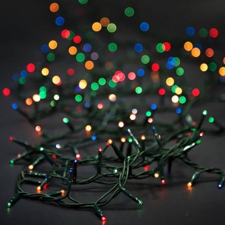 Χριστουγεννιάτικα φωτάκια 100 LED με επέκταση πράσινο καλώδιο/πολύχρωμο φως 31V