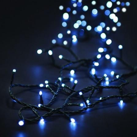 Χριστουγεννιάτικα φωτάκια 100 LED με επέκταση πράσινο καλώδιο/λευκό φως 31V