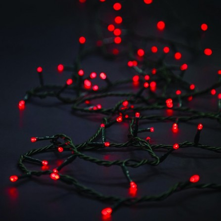 Χριστουγεννιάτικα φωτάκια 100 LED με επέκταση πράσινο καλώδιο/κόκκινο φως 31V
