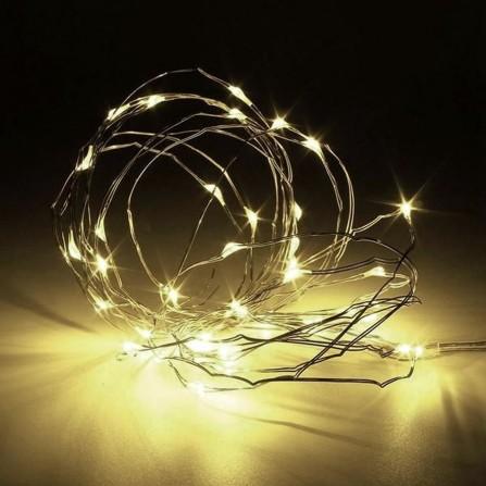 Επεξεργασία: Χριστουγεννιάτικα λαμπάκια/φωτάκια 20 LED μπαταρίας χαλκού/λευκό φως