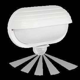 Καραβοχελώνα πλαστική στεγανή με αισθητήρα για λαμπτήρα Ε27 σε λευκό χρώμα