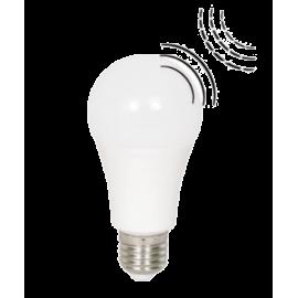 Λαμπτήρας LED Ε27 με φωτοκύτταρο & αισθητήρα κίνησης 10W 6000K (ΨΥΧΡΟ) 220o 906Lm
