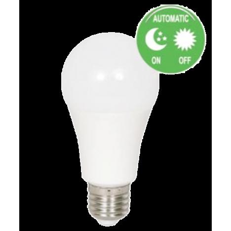 Λαμπτήρας LED Ε27 με φωτοκύτταρο ημέρας / ωύχτας 9W 6000K (ΨΥΧΡΟ) 230o 758Lm