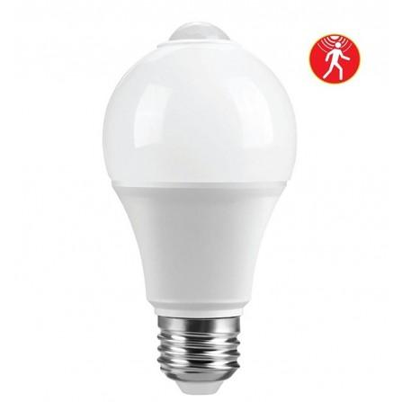Λαμπτήρας LED Ε27 με ανιχνευτή κίνησης 7W 4000K (ΦΩΣ ΗΜΕΡΑΣ) 120o 600Lumens VIVA