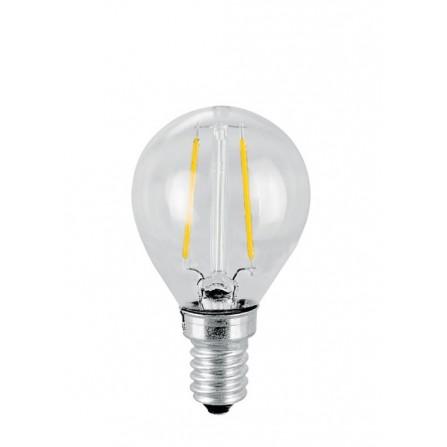 Λάμπα LED σφαιρική Filament E14 4W 3000K (ΘΕΡΜΟ) P45 360o 470Lm VIVA