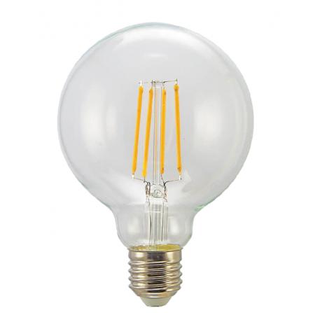 Λάμπα LED Γλόμπος Filament E27 8W 3000K (ΘΕΡΜΟ) G95 360o 806Lm VIVA