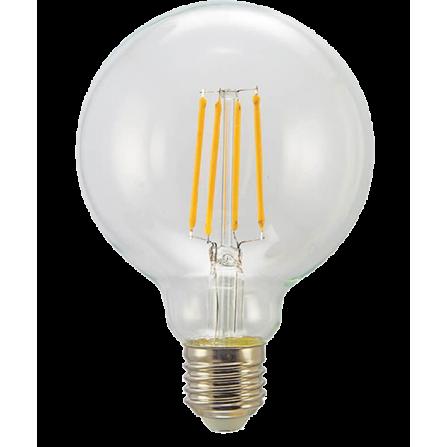 Λάμπα LED Γλόμπος Filament E27 8W 3000K (ΘΕΡΜΟ) G125 360o 806Lm VIVA