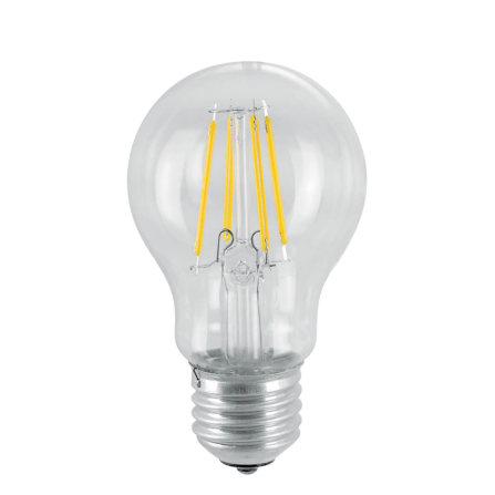 Λάμπα LED Filament E27 6W 3000K (ΘΕΡΜΟ) Α60 360o 650Lm VIVA