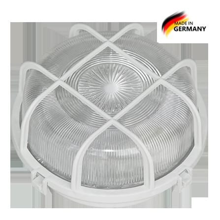 Καραβοχελώνα πλαστική στρόγγυλη στεγανή για λαμπτήρα Ε27 Φ220 σε λευκό χρώμα
